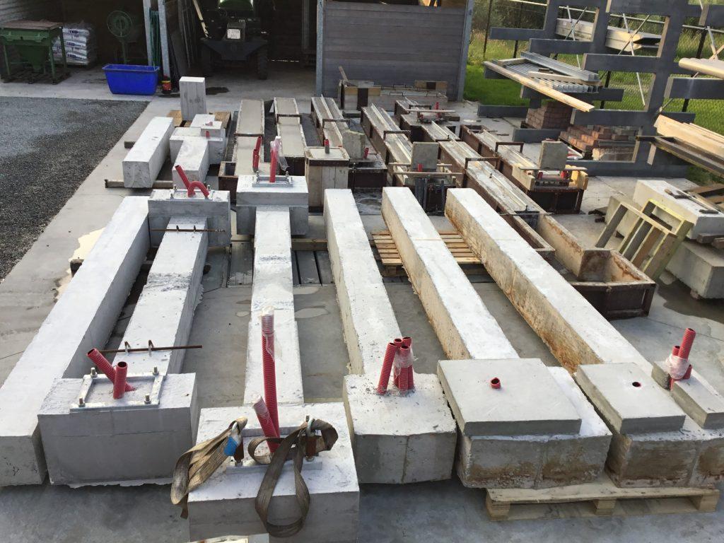 op maat gegoten prefab betonblokken voor schuifhekkens